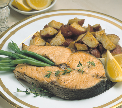 salmon steaks or filets