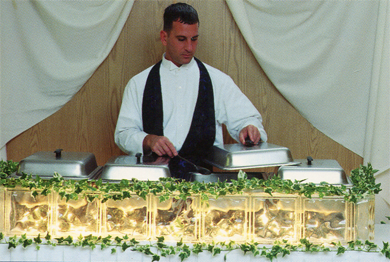 caterer at their station